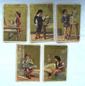 5-ANCIENNES-CARTES-CHROMOS-PUBLICITAIRE-A-DURAND-GRANDS-HOMMES