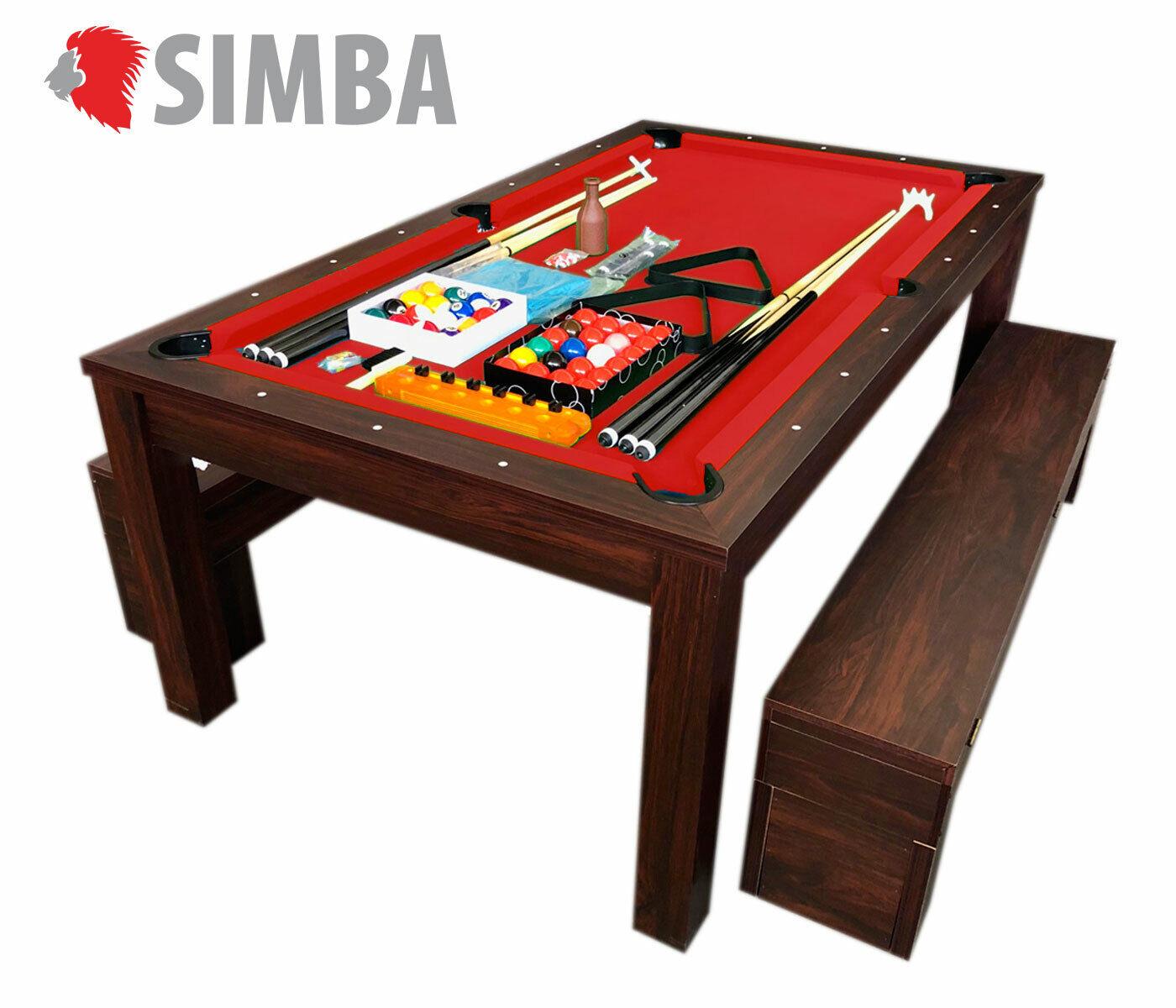 Mesa de billar 7 FT RICH juegos de billar carambola y plan de cobertura y bancos