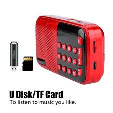 Portatile FM Radio Mini Digitale Stereo TF USB Lettore MP3 con 3.5mm AUX Jack