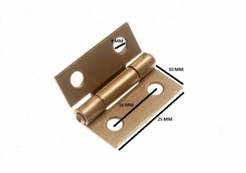 Couplet porte Box EB Laiton Acier Plaqué 25 mm 1 in 50 paire environ 2.54 cm