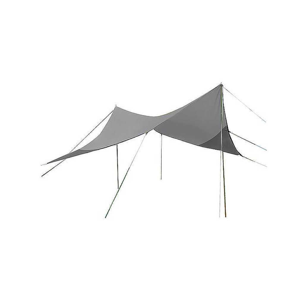 Tarp 4 x 4 Meter Sonnensegel Regenschutz mit Spannseile u Heringe Plane Bo-Camp