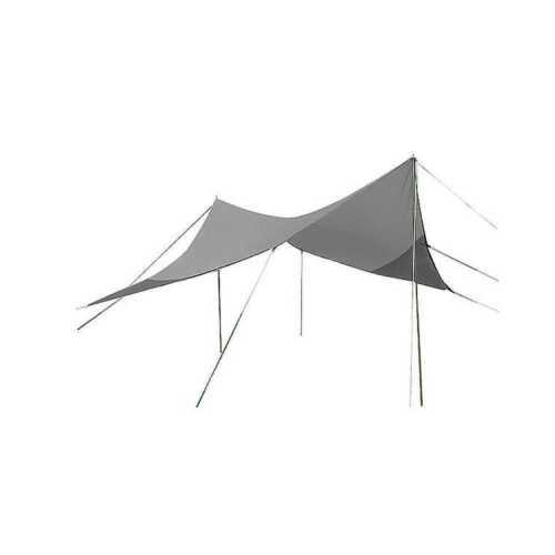 Tarp Sonnensegel Regenschutz 3 x 3 Meter mit Spannseile u Heringe Plane Bo-Camp