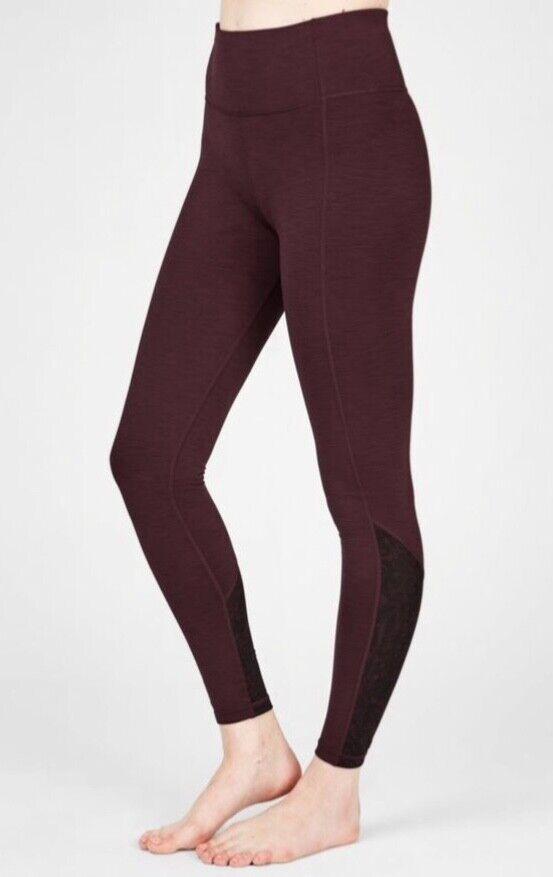 Sweaty Betty Super Sculpter Maille Yoga Leggings Noir Cherry Taille: Medium Rrp £ 85