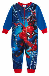 MARVEL Avengers Boys Fleece Onesie All in One Pyjamas Kids Avengers Sleepsuit Onezee 4-10 Years