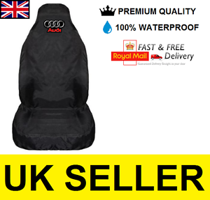 2 BLACK HIGH QUALITY FRONT CAR SEAT COVERS PROTECTORS FOR AUDI Q3