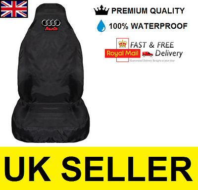 AUDI A1 Premium Car Seat Cover Protector//100/% Impermeabile//Nero