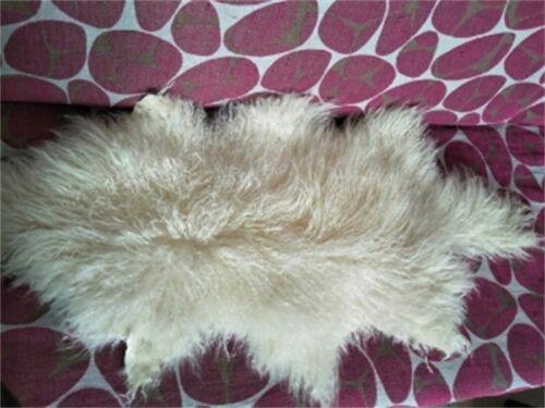 1.8X3.5/'Real Mongolian Fur Throw Tibetan Lambskin Rug Hide Pelt Curl Hair Carpet