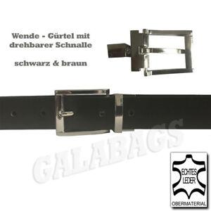 Ledergürtel LB09 | hochwertiger PU Besatz | individuell kürzbar| Wendegürtel