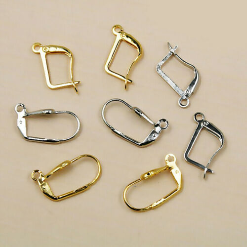 12Pcs Silver//Gold Plated Earrings Hook Coil Ear Wires For Jewelry Making`FiPLCA