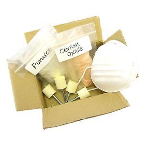 glas polierset 28 macht aus kratzer und politur ebay. Black Bedroom Furniture Sets. Home Design Ideas