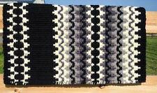 Mayatex Wool Show Saddle Blanket Pad 34x40 Black Steel Grey Silver White THICK