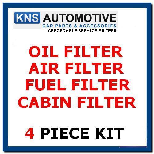 Cabin AUDI A4 2.7 /& 3.0 TDi Diesel 04-08 Air Fuel /& Oil Filter Service Kit a2c