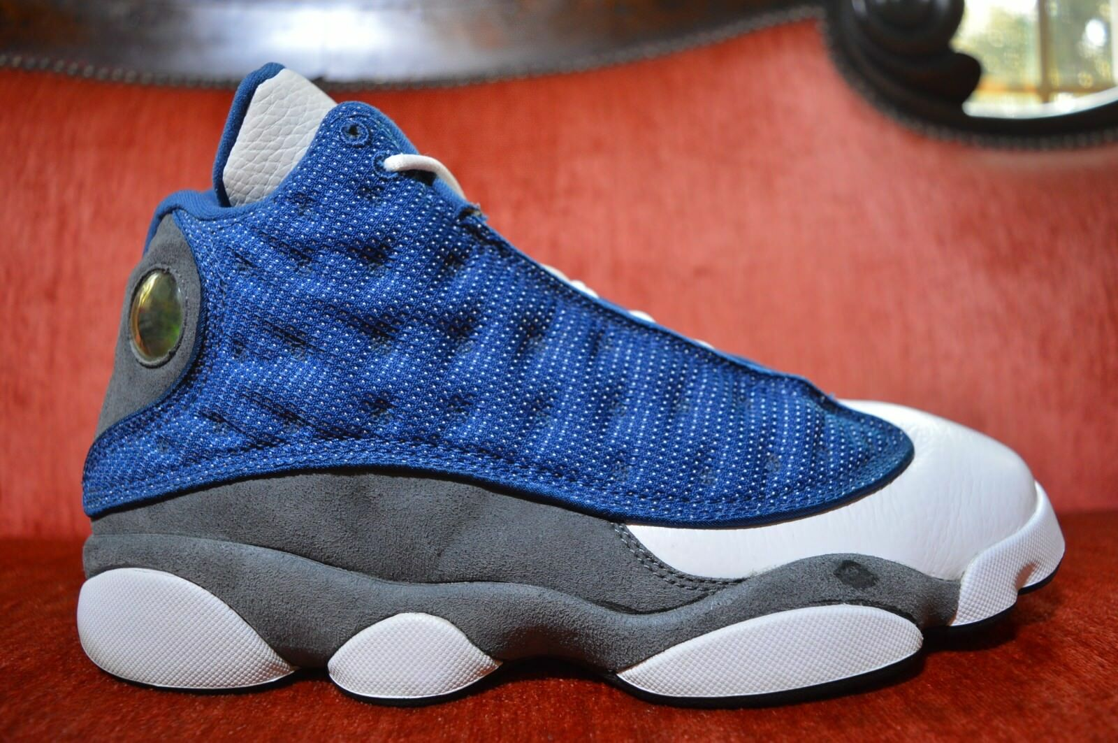 the latest 26361 8a102 ... get nike air jordan 13 xiii retro azul frances universidad azul zapatos  flint gris 414571 401
