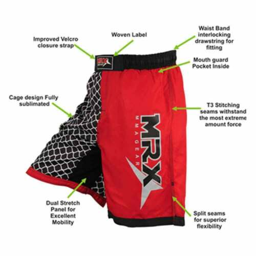 MMA Fight Shorts Grappling Short Kick Boxing Cage Fighting Shorts Mens MRX