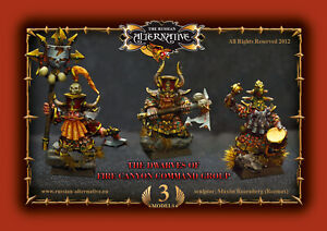 Dwarves of Fire Canyon Command Group RESIN