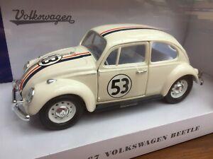 ROAD-LEGENDS-24202H-VW-BEETLE-HERBIE-model-rally-car-Number-53-1967-1-24th-scale