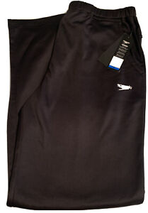 NEW-Mens-Speedo-SWIM-XL-BLACK-WARMUP-PANTS-With-Tags-NWT-100-Polyester-55