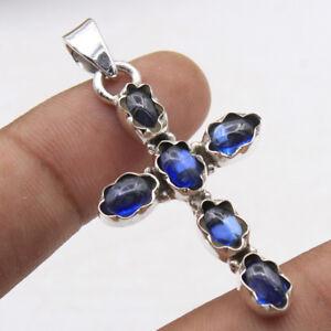 Kyanite-Gemstone-Holy-Cross-Pendant-925-sterling-Silver-Jewelry-1-6-034