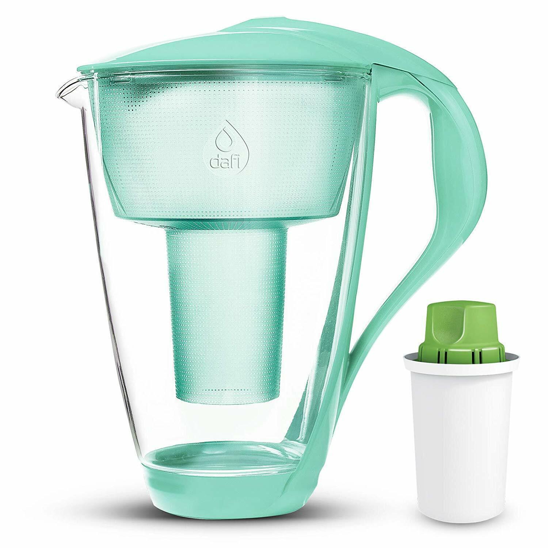 DAFI Alkaline UP verre cristal eau Pitcher pH alcalin Filtre à eau Comme neuf