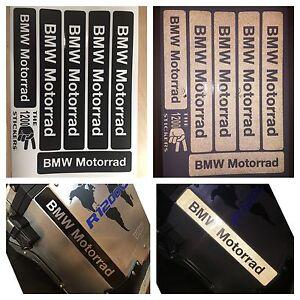 kit rifrangenti reflective bmw motorrad stickers black nero the1200stickers ebay. Black Bedroom Furniture Sets. Home Design Ideas