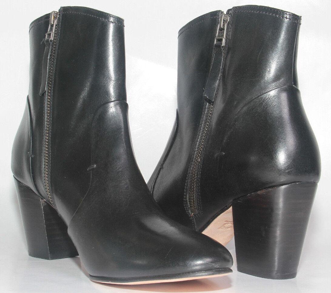 Para mujeres Zapatos H.S. Trask todo todo todo el cuero negro botas al Tobillo interior con cremallera Sz 11 US  348 c66f5a