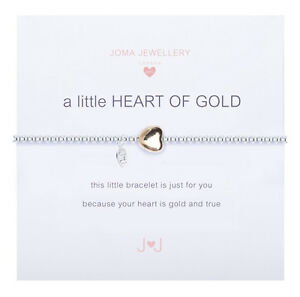 A Little Heart Of Gold Bracelet Silver Plated By Joma Jewellery p9dGhh7Lt