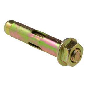 Sleeve Anchor Galvanised Masonry Bolt M10 Thread Qty 100 Dynabolt 12mm x 130mm