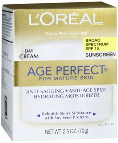 L'Oreal Dermo-Expertise Age Perfect Mature Skin Day Cream SPF 15 2.50oz (9 pack)