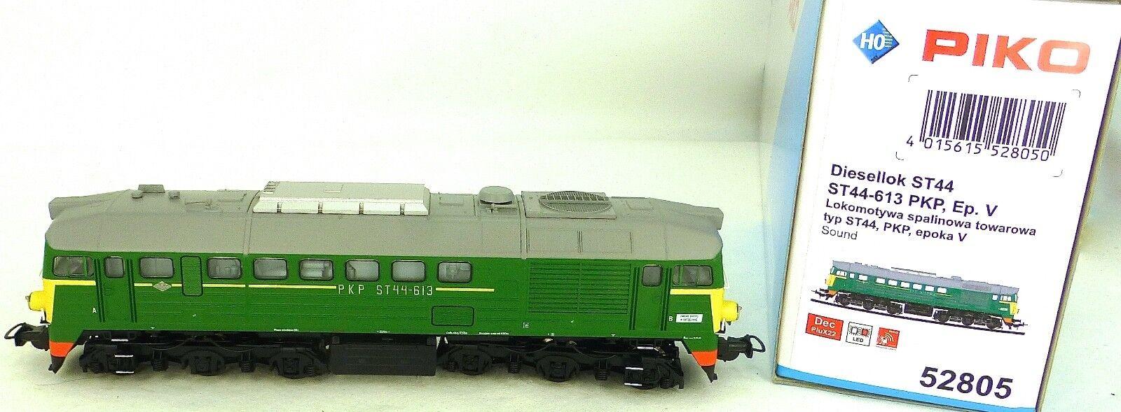 Piko 52805 Pkp ST44-613 Diesel Locomotive Digital Sound PluX22 Ep V H0 1 87 Ovp