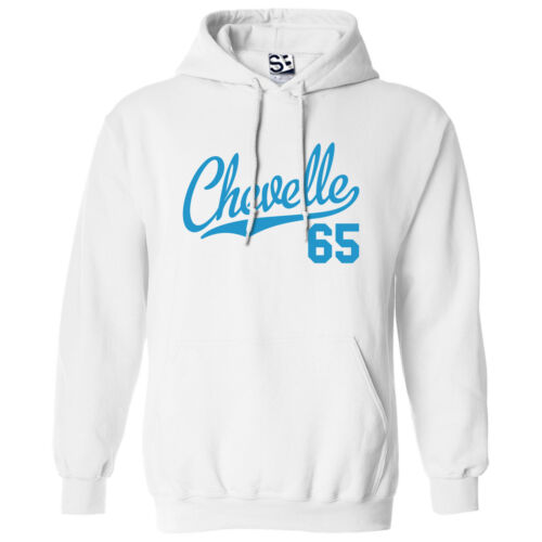Hooded 1965 Muscle Car Sweatshirt All Colors Chevelle 65 Script /& Tail HOODIE