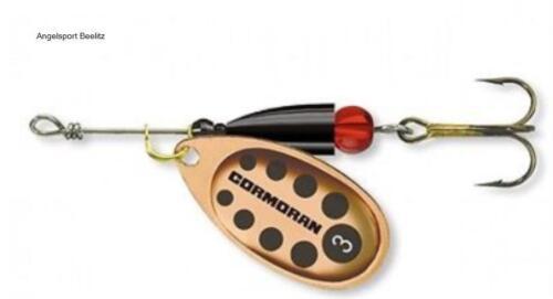 Cormoran Bullet Spinner verschiedene Größen Kupfer gepunktet