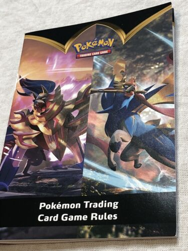 Pokemon TCG Trading Card Game Rules Rule Book brand new from elite trainer box