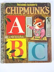 Richard Scarry's Chipmunk's ABC ~ Vintage 1972 Children's Little Golden Book