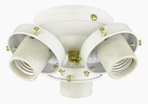 Savoy House 3 Light White Ceiling Fan Light Kit Flc305 Wh