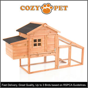 Chicken-Coop-Cozy-Pet-Deluxe-Hen-House-Poultry-Ark-Rabbit-Hutch-Run-Coup-CC01S-N