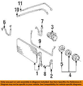 s l300 toyota oem 95 96 camry 2 2l l4 a c condenser compressor line ac hose