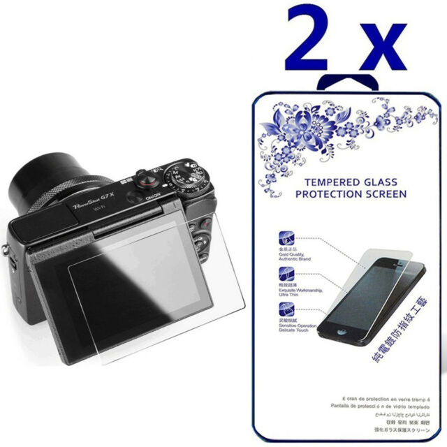 2X Bruni Screen Protector for Canon PowerShot G7 X Mark II Protector Film crystal clear Protective Film