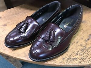 NEW-FOOTJOY-CLASSICS-Burgundy-Kiltie-Tassel-Loafer-Size-7-5-EEE-extra-wide