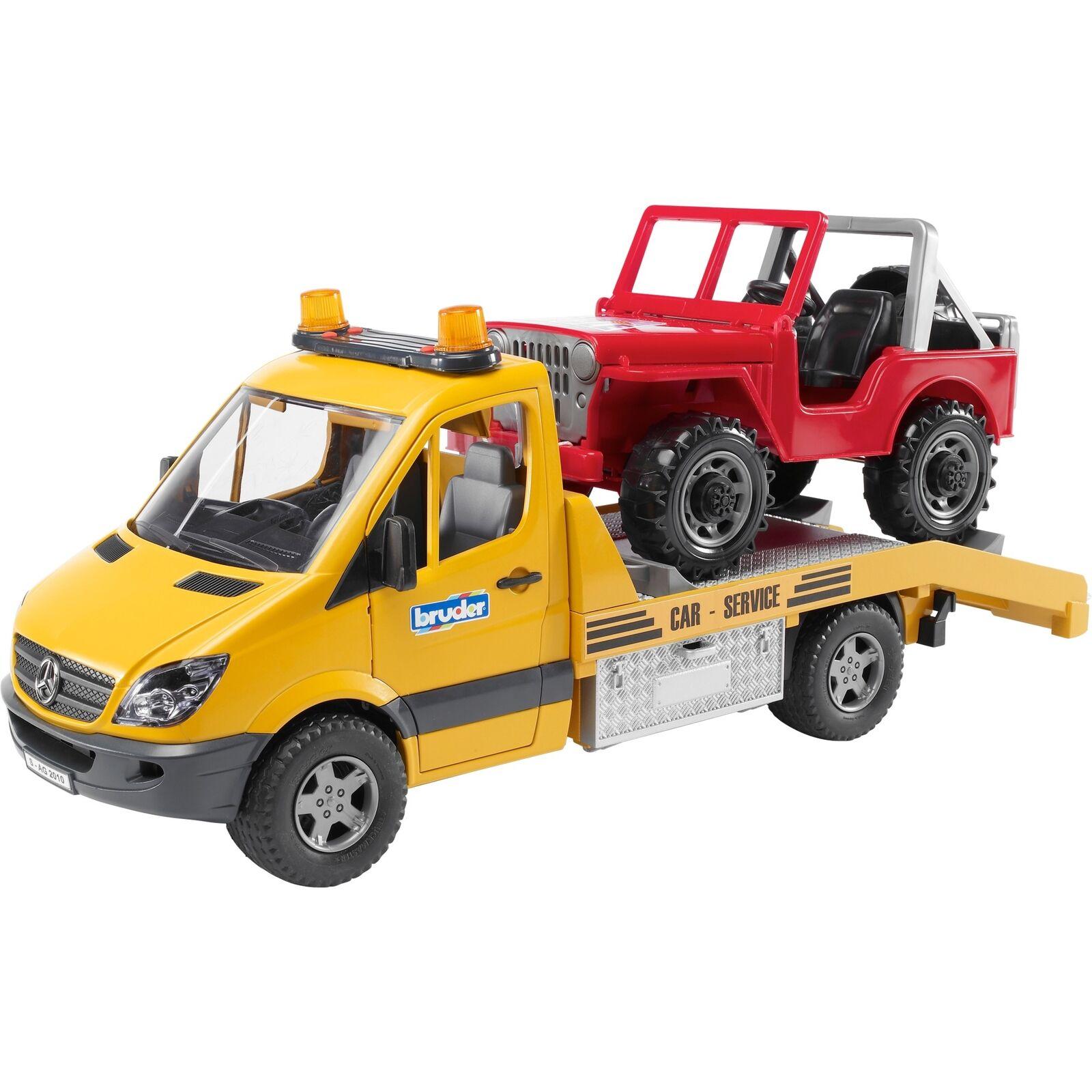 Bruder MB Sprinter Autotransporter Modellfahrzeug