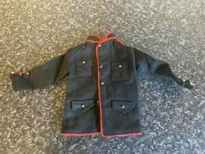 VINTAGE PALITOY/HASBRO ACTION MAN BLACK JACKET WITH RED PIPING VGC FOR AGE