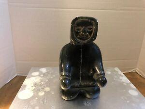 Inuit-Soapstone-Old-Eskimo