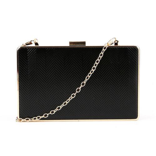 Prom Wedding Party  Arrow Textured Metal Box Frame Clutch Evening Bag Handbag