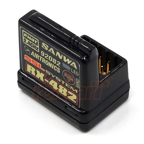 Sanwa rx482 4 Canales 2.4 Ghz Receptor 1 10 Rc Car On Off Road Drift  rx -482