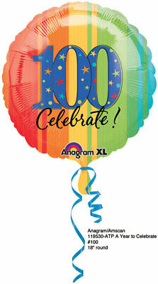 """weight 100th Birthday Decorations Party Celebrate 100 years 17/"""" Balloon"""