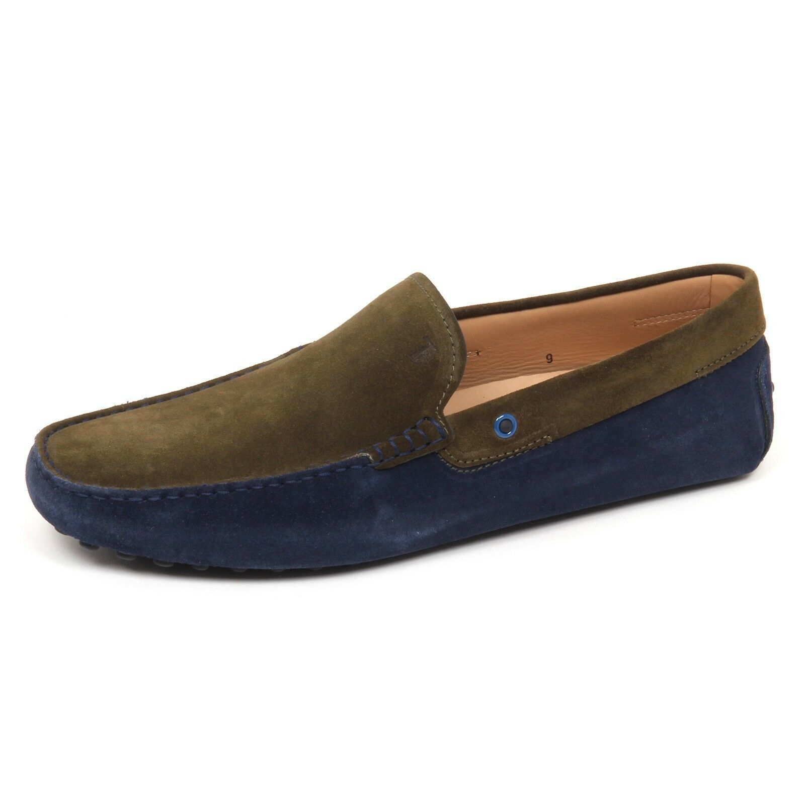 E3690 mocassino uomo blu/green TOD'S scarpe suede loafer shoe man