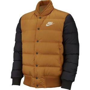 Bajo tempo Melancolía  Para Hombre Nike Sportswear chaqueta de plumón de relleno 928819-727  Oro/Negro Nuevo Talla L   eBay