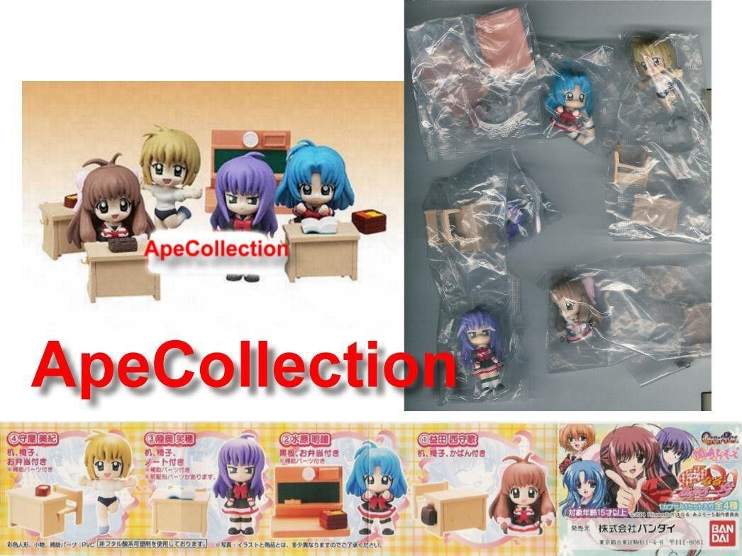 Selten hat 4 'gashapon 'gashapon 4 moe    le mode 8 sexy girls manga bandai japon b64856