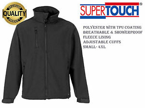 SuperTouch/® Black Soft Shell Jacket