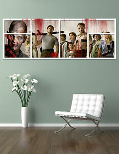 the BLOODED  WALKING DEAD CAST !!!   GIANT WINDOW VIEW  PRINTED POSTER