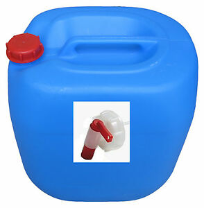 30 liter kanister blau mit auslaufhahn hahn kunststoffkanister beh lter ebay. Black Bedroom Furniture Sets. Home Design Ideas